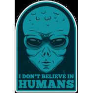 Наклейка Я не верю в человечество, фото 1