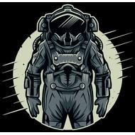 Наклейка Космонавт на фоне планеты, фото 1