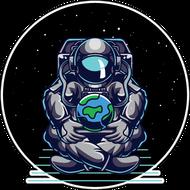Наклейка Человечество в руках космонавта, фото 1