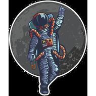 Наклейка Космонавт на фоне Луны, фото 1