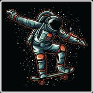 Наклейка Космический скейтбординг, фото 1