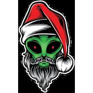 Наклейка Санта пришелец, фото 1