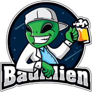 Наклейка Пришелец с пивом, фото 1