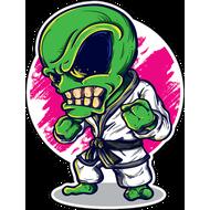 Наклейка Злобный инопланетяшка в кимоно, фото 1