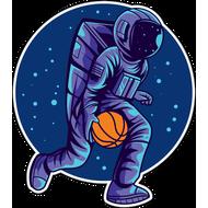 Наклейка Космический баскетбол, фото 1