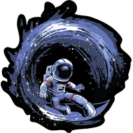Наклейка Звездный серфинг, фото 1