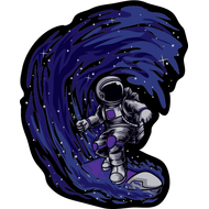 Наклейка Космический серфинг, фото 1