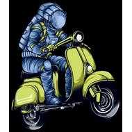 Наклейка Космонавт на мопеде, фото 1