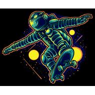 Наклейка На скейте в открытом космосе, фото 1