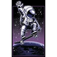 Наклейка Скейтбординг на орбите, фото 1