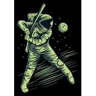 Наклейка Космический бейсбол, фото 1