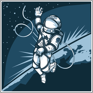 Наклейка В открытом космосе, фото 1