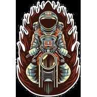 Наклейка Космонавт на мотоцикле, фото 1