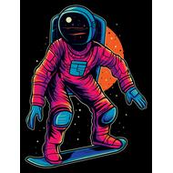 Наклейка Космический сноубординг, фото 1