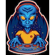 Наклейка DJ Alien, фото 1