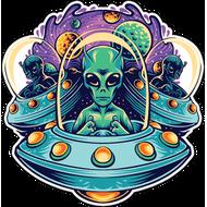 Наклейка Нашествие пришельцев, фото 1