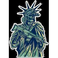 Наклейка Статуя свободы с автоматом, фото 1
