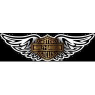 Наклейка Эмблема Harley Davidson с крыльями, фото 1