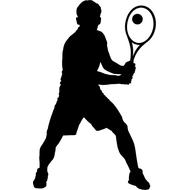 Наклейка Теннисист, фото 1