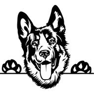 Наклейка Собака-114, фото 1