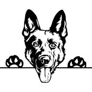 Наклейка Собака-115, фото 1
