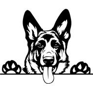 Наклейка Собака-116, фото 1