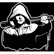 Наклейка Анархист с битой, фото 1