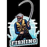 Наклейка Рыбак-045, фото 1