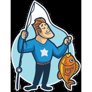 Наклейка Рыбак-048, фото 1