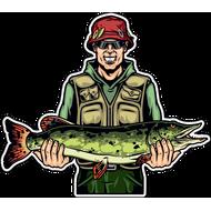 Наклейка Рыбак-050, фото 1