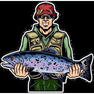 Наклейка Рыбак-051, фото 1