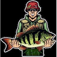 Наклейка Рыбак-052, фото 1