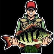 Наклейка Рыбак-053, фото 1