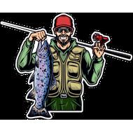 Наклейка Рыбак-056, фото 1