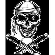 Наклейка Пиратский череп с ножами, фото 1