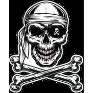 Наклейка Пиратский череп с костями, фото 1