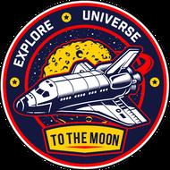 Наклейка Explore Universe То The Moon, фото 1