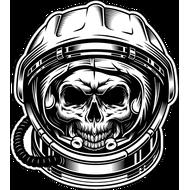 Наклейка Череп Космонавта, фото 1