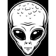 Наклейка Голова Пришельца, фото 1