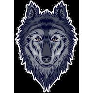 Наклейка Волк-103, фото 1