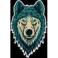 Наклейка Волк-105, фото 1