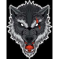 Наклейка Волк-106, фото 1