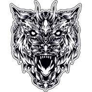 Наклейка Волк-115, фото 1