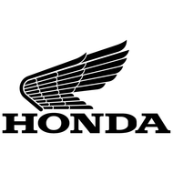 Наклейка Honda Retro Logo Left Wing, фото 1