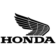 Наклейка Honda Retro Logo Right Wing, фото 1
