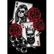 Наклейка Карты, розы и кастет, фото 1