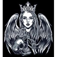 Наклейка Девушка с черепом, фото 1