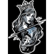 Наклейка Девушка в короне / Девушка в бейсболке, фото 1