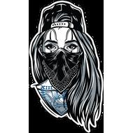 Наклейка Девушка в бандане, фото 1