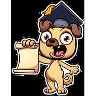 Наклейка Собака-090, фото 1